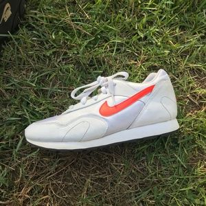 White And Orange Nike Sneakers